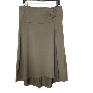 Eddie Bauer Skirt Jersey Hi Low A Line Skirt - L